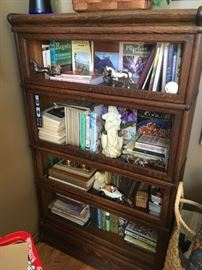 A wonderful four-stack barrister bookcase -- nice find.