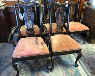 Henderson Chinoiserie 6 Dining Chairs.  $749!!!