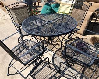Iron patio set $175!