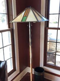 Tiffany style shade floor lamp