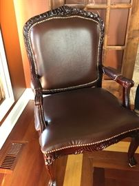 Leather occasional chair- we have a pair
