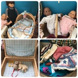 American Girl dolls- Samantha, 2 Bitty Baby's plus accessories and clothing