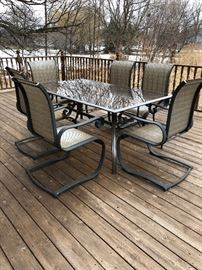 Patio set with 6 chairs