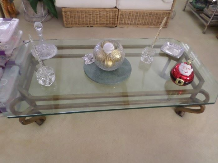 Glass/Gold cocktail Table