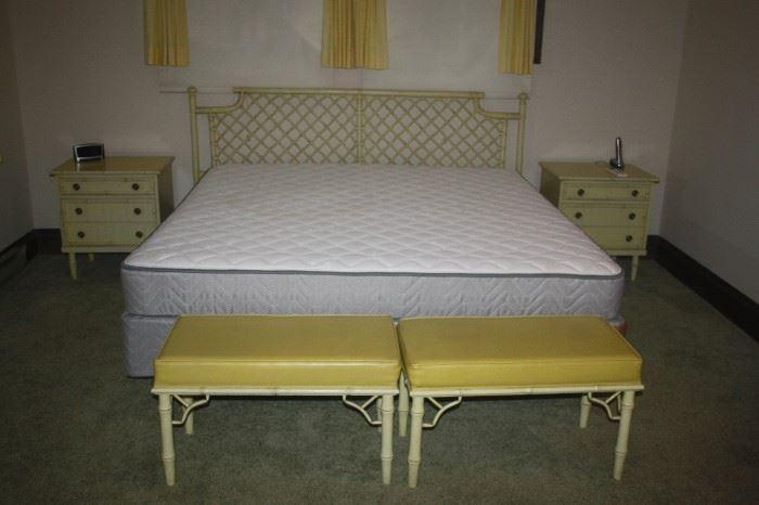 VINTAGE BAMBOO BEDROOM SUITE