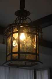 TWO VINTAGE CEILING FIXTURES