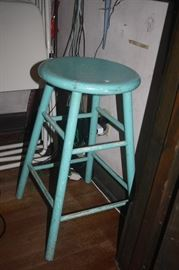 OLD PAINTED STOOL