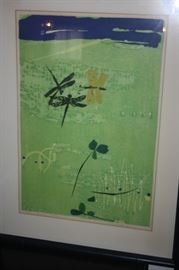 1964 SHIRO TAKAGI COLOR LITHOGRAPH