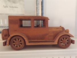 Hand Carved Wooden Car By Robert Morehouse.