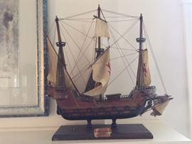 Spanish Caravelle Ship Model.