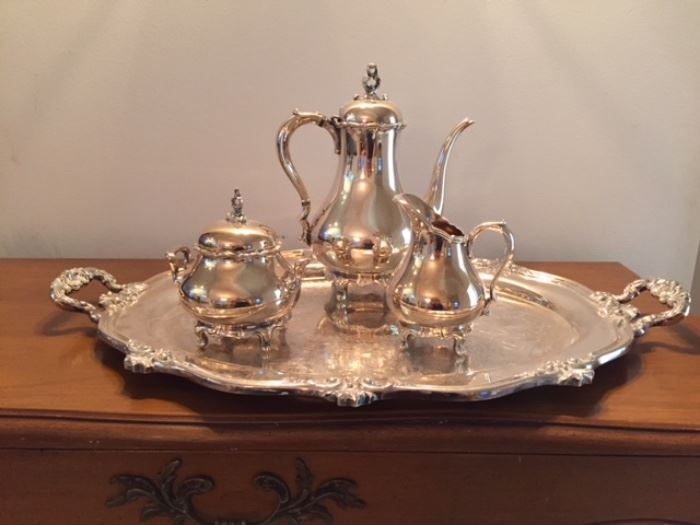 Reed & Barton 7040 Silver Plated Tea Set.