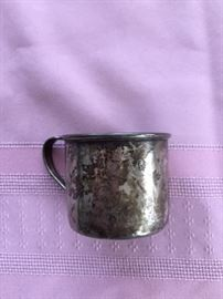 Small Sterling Silver Cup.