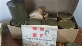 WWII MRE rations in a can in the original box