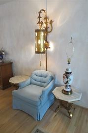 Mid Century Furniture. Very cool lamp!!!