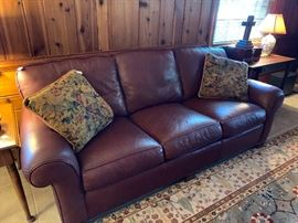 Like New Leather couch...pristine
