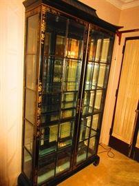 Large chinoiserie vitrine