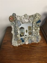 There's an artist among us...jewelry framed mirror