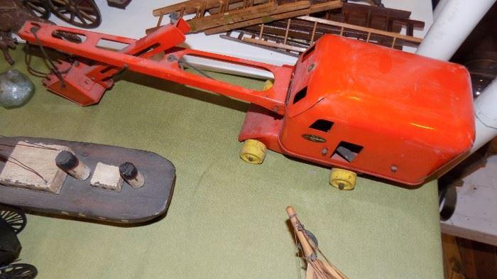 vintage toy excavator