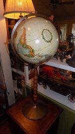 vintage stand globe