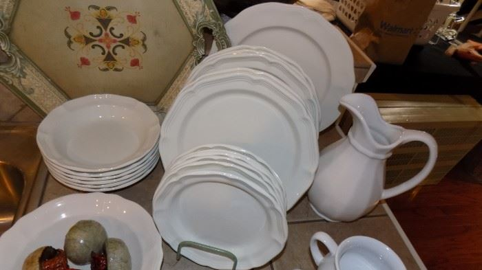Johnson Brothers white stoneware