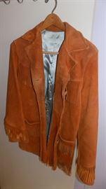 vintage fringe suede jacket!