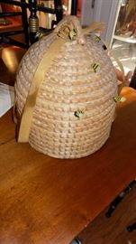 vintage bee hive basket