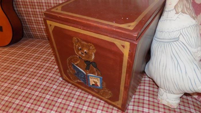 wooden block box