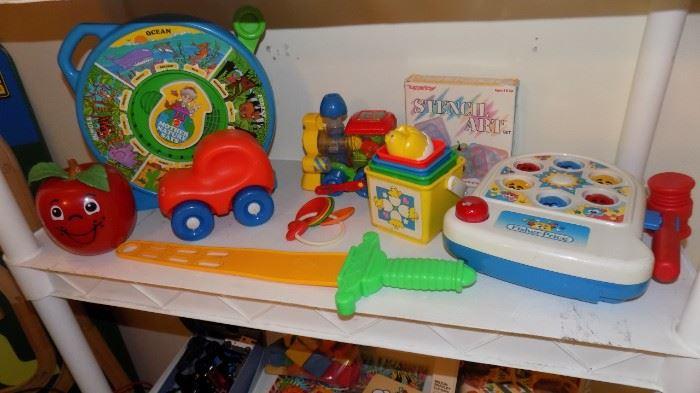 Fisher Price toys, Mattel, Play Skool toys