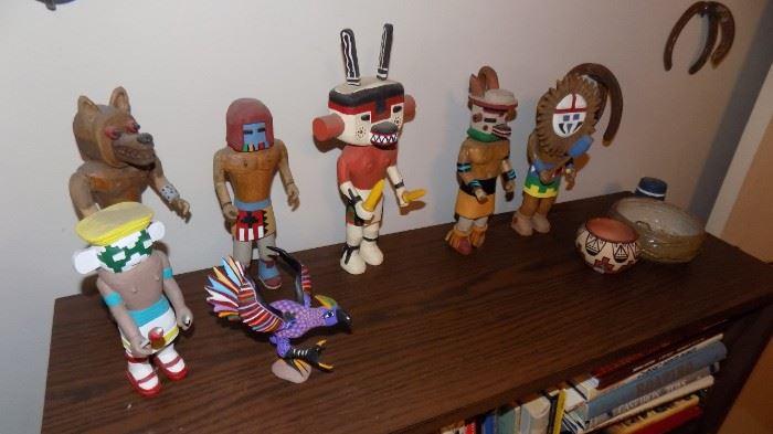 carved Kachina dolls