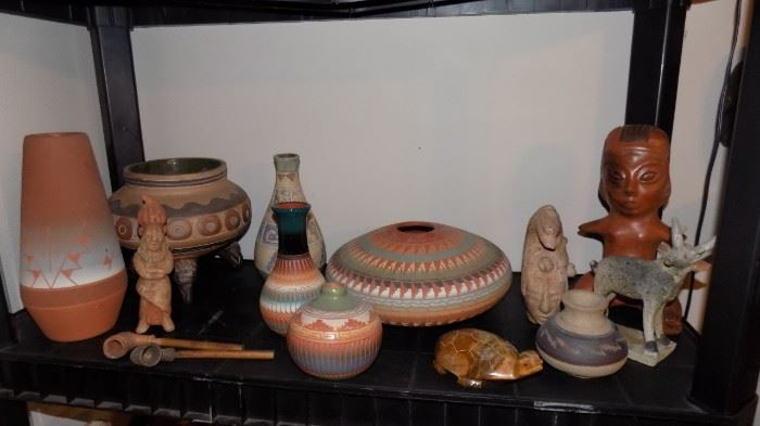 Native American art pottery