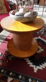 handcrafted spool table