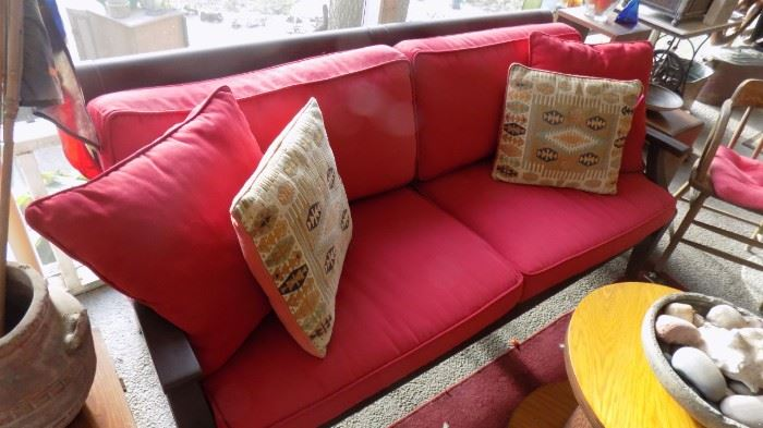 Pottery Barn sofa with cushions