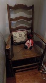 antique ladderback chair
