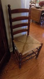 old ladderback chair