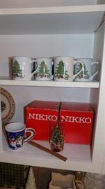 holiday glassware and mugs