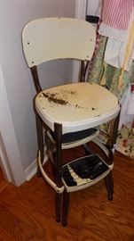vintage step stool chair
