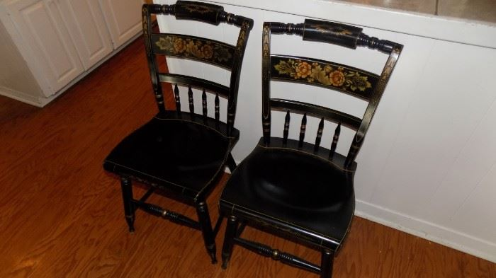 pair Hitchcock chairs