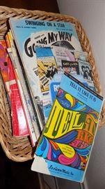sheet music and music books