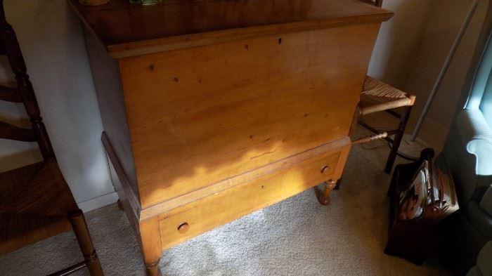 antique pine grain bin (tack cabinet)
