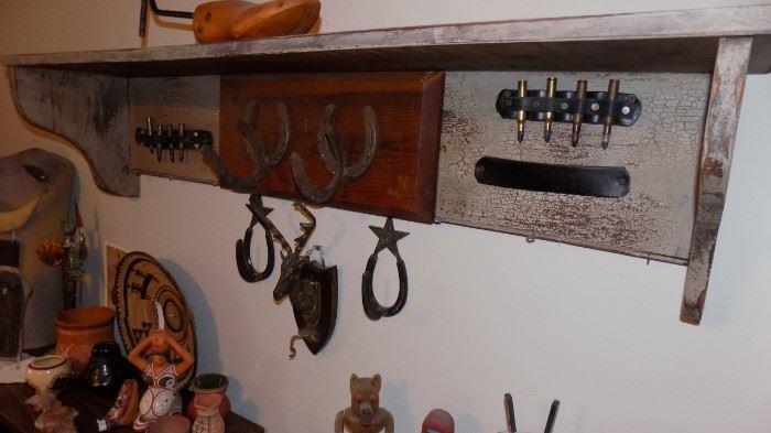 wall shelf with a western theme