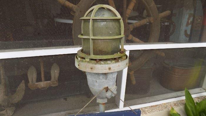 \vintage boat lantern