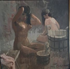 ART OIL (NUDE WOMEN BATHING)