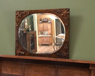 Antique German wall mirror