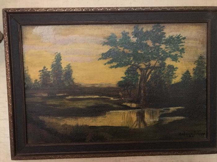 Wonderful artwork throughout the house.  Some original...like the painting by Ardyce Delapp