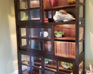 Large Sliding Door Display Cabinet