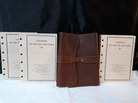 Col. Littleton No. 9 Leather Journal with 3 Unlined Paper Insert Journal Booklets