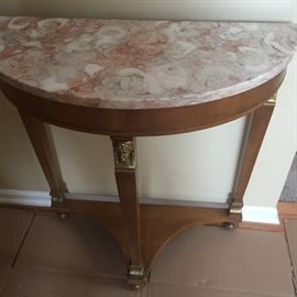 Nice console with marble top