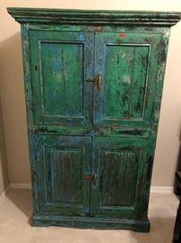 Unique hand painted armoire