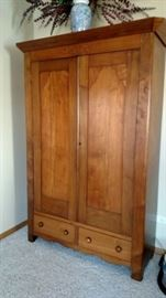 Lovely antique armoire with lots of storage
