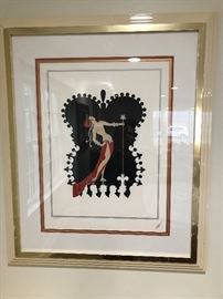 Original Erté signed And numbered Artist Proof.